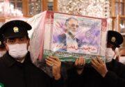 طواف پیکر دانشمند هستهای در حریم رضوی/آخرین زیارت شهید فخریزاده در حرم امام رضا (ع) + تصاویر