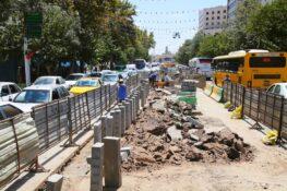 مسیر ویژه و بهسازی شده بی آرتی خیابان شیرازی تا نیمه مردادماه به بهره برداری میرسد