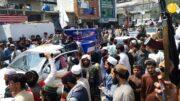 (تصاویر) تشییع جنازه نمادین آمریکا و انگلیس در افغانستان!