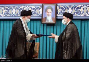 مراسم تنفیذ حکم ریاست جمهوری دوره سیزدهم در حسینیه امام خمینی(ره)